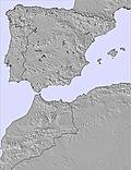 Península Ibérica snow map