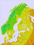 Scandinavia temperature map