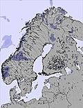 Scandinavia snow map