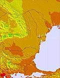Bulgaria / Romania temperature map