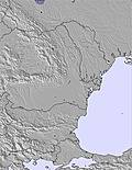 Bulgaria / Romania snow map