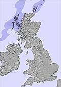 United Kingdom snow map