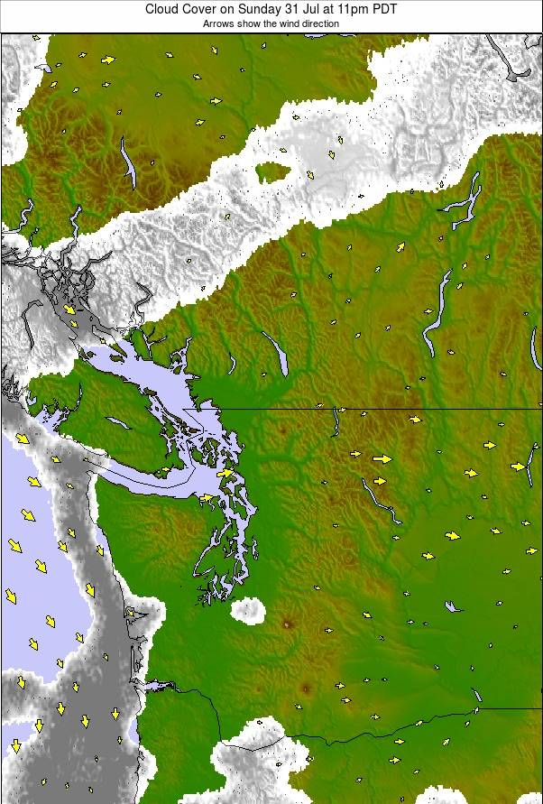 Washington / Vancouver weather map - click to go back to main thumbnail page