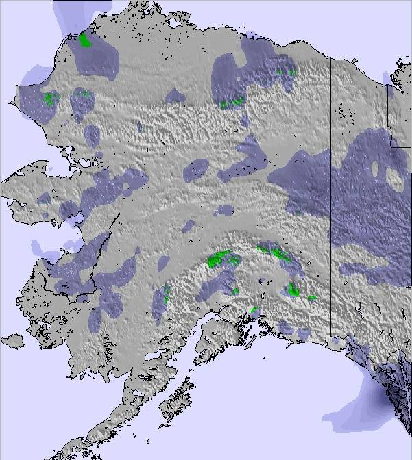 Weather Map And Snow Conditions For Alaska