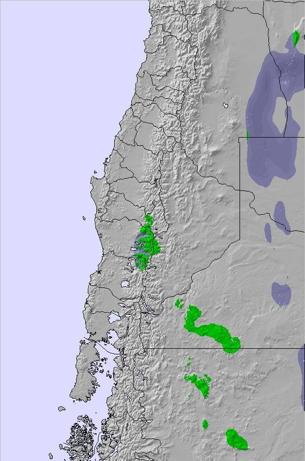 Weather Map and Snow Conditions for Central Andes