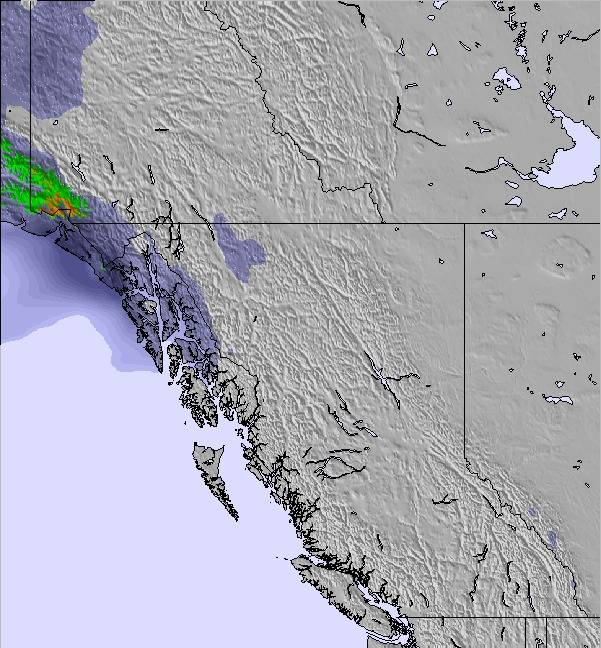West Of Canada Map.Weather Map And Snow Conditions For West Canada