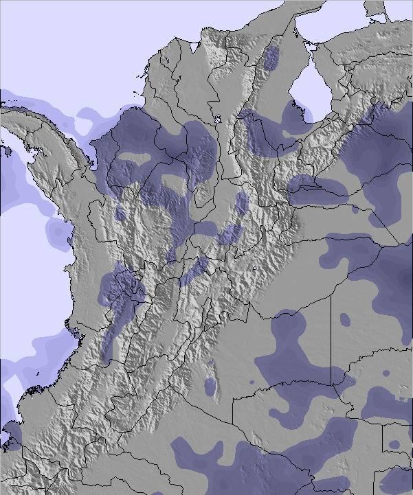 Mapa Pocasi A Snehovych Podminek Pro Kolumbie
