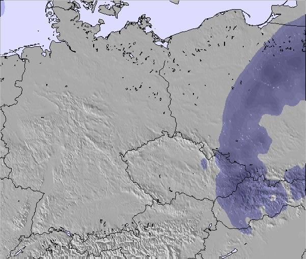 Weather Map Of Germany.Weather Map And Snow Conditions For Germany