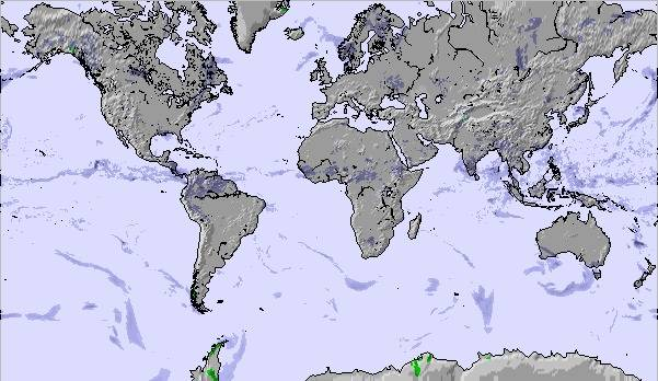 Weather Map And Snow Conditions For Global Atlantic View - Global weather map