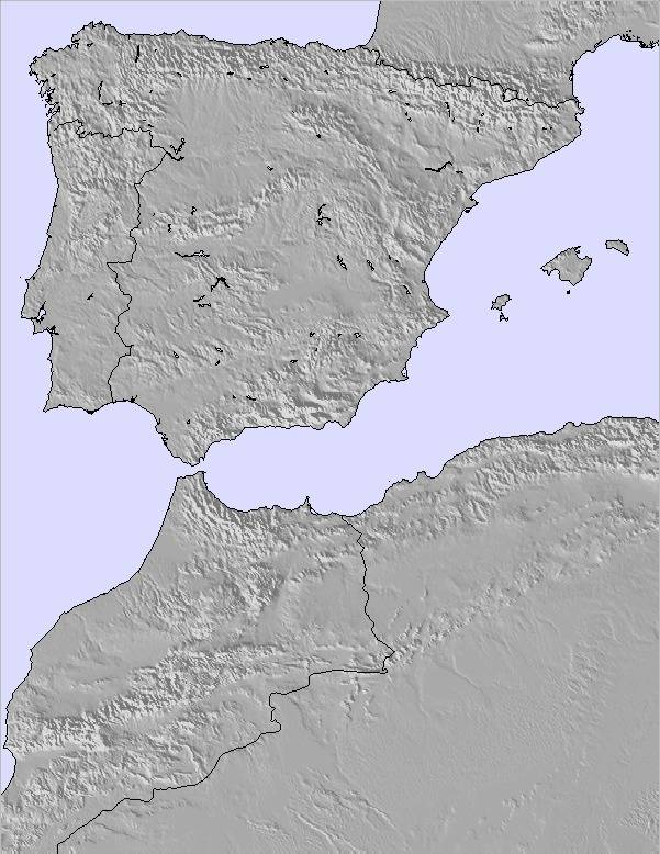 Weather Map Of Spain.Weather Map And Snow Conditions For Spain Portugal