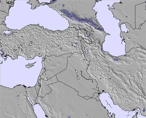 Weather Map and Snow Conditions for Middle East