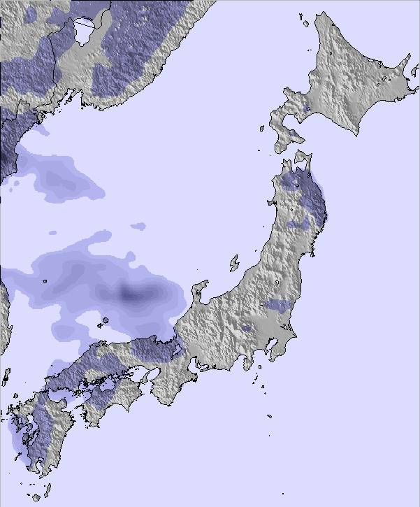 Weather Map and Snow Conditions for Japan