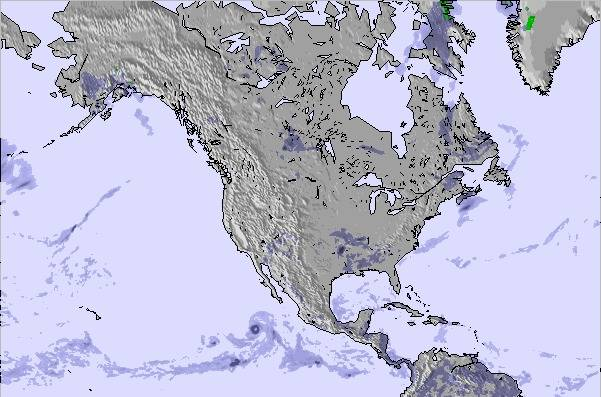 Weather Map and Snow Conditions for North America on