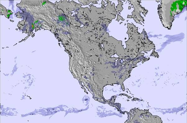 Weather Map and Snow Conditions for North America