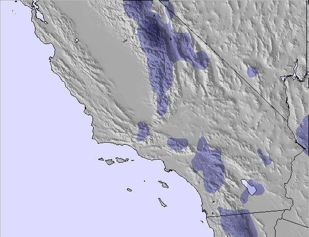 Weather Map And Snow Conditions For South California