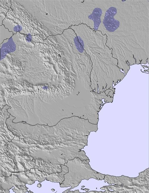 Snow Map Europe.Weather Map And Snow Conditions For Bulgaria Romania