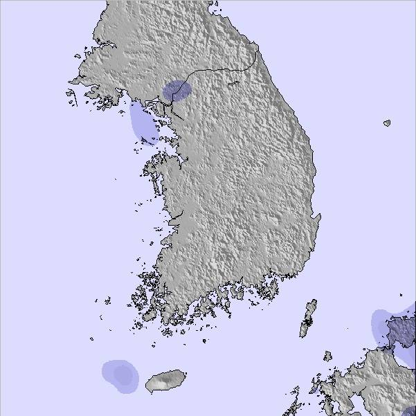 Weather Map and Snow Conditions for South Korea