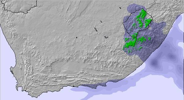 Weather Map and Snow Conditions for South Africa