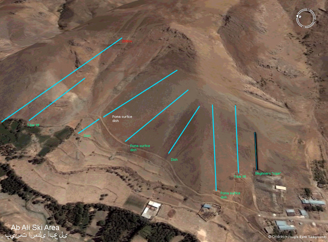 Āb Alī Piste / Trail Map