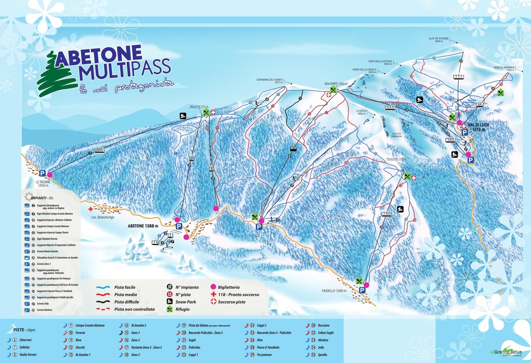 Abetone Piste Map Trail Map
