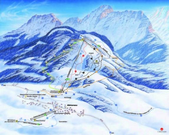 Abtenau Piste / Trail Map