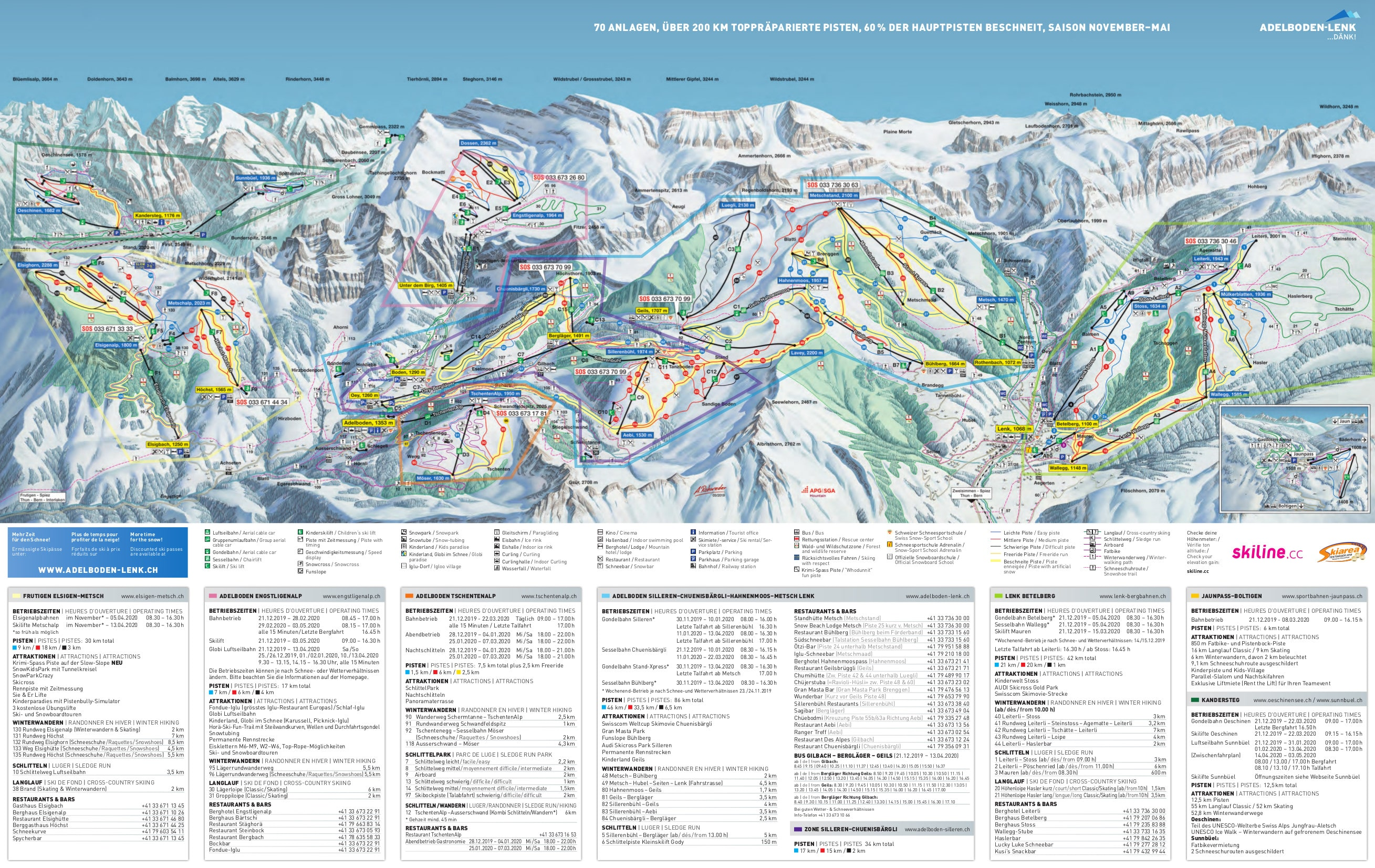 Adelboden Piste / Trail Map