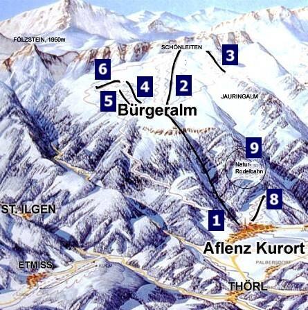 Aflenz Piste / Trail Map