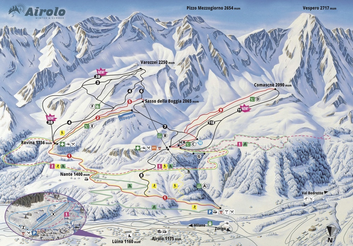 Airolo Piste / Trail Map