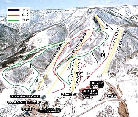 Aizu Kogen Daikurayama Piste / Trail Map