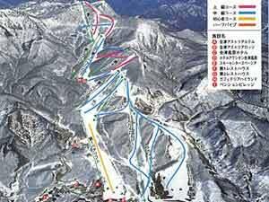 Aizu Kogen Takatsue Piste / Trail Map