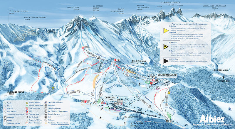 Albiez-Montrond Piste / Trail Map