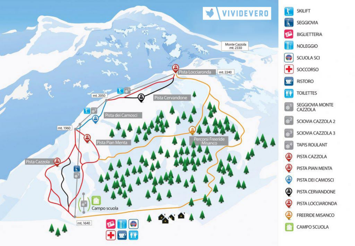 Alpe Devero Piste / Trail Map