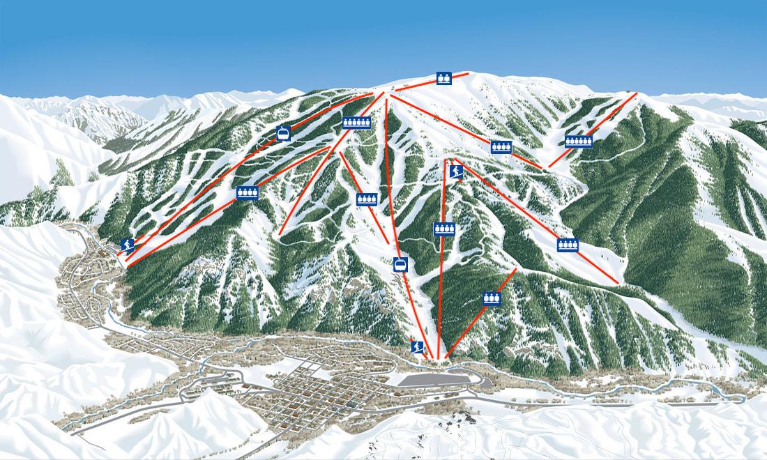 Alpenglow Piste / Trail Map