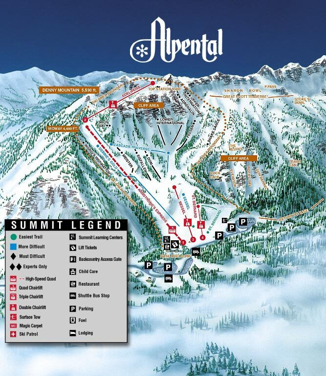 Alpental At The Summit Ski Resort Guide Location Map Alpental At