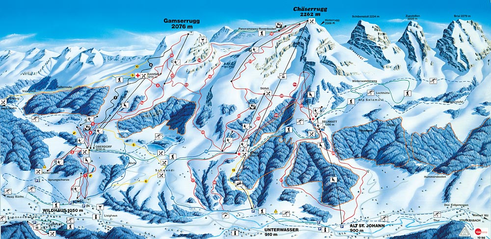 Alt St. Johann/Toggenburg Piste / Trail Map