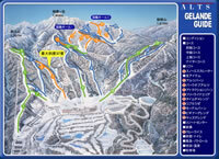 Alts Bandai Piste / Trail Map