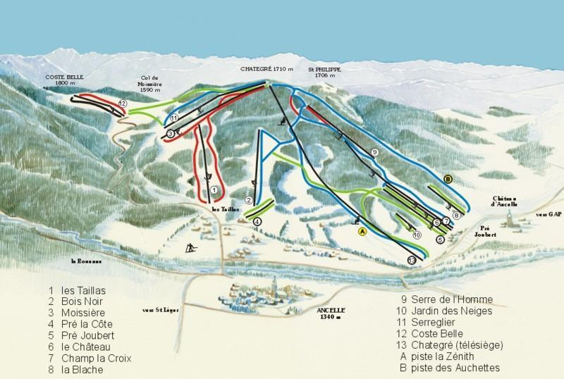Ancelle Piste / Trail Map