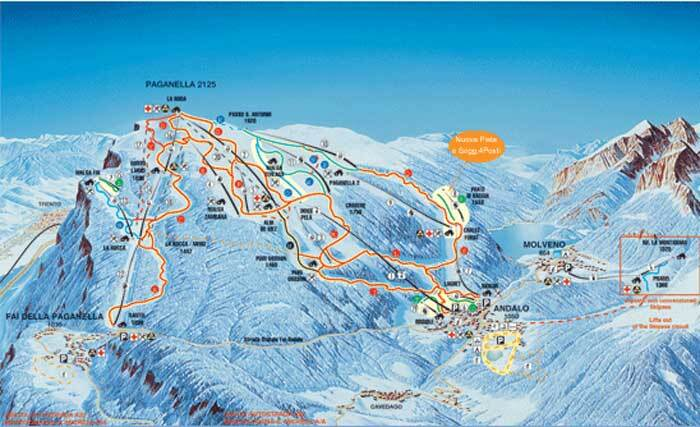 Andalo Piste Map Trail Map