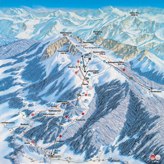 Andelsbuch Piste / Trail Map