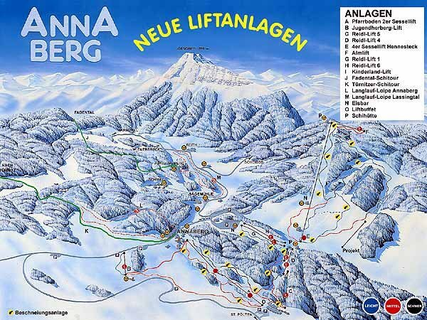 Lungötz Piste / Trail Map