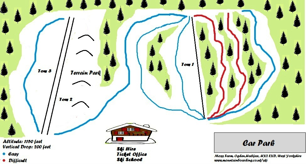 Another World Ski and Snowboard Centre Piste / Trail Map