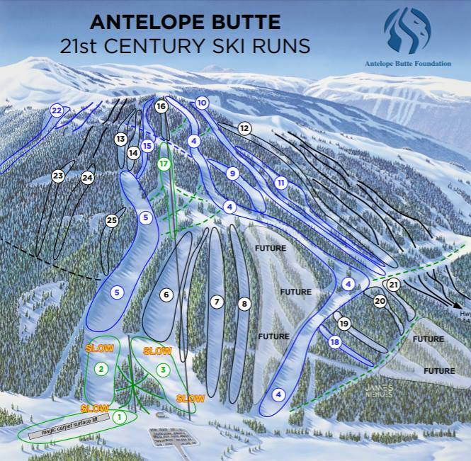 Antelope Butte Piste / Trail Map