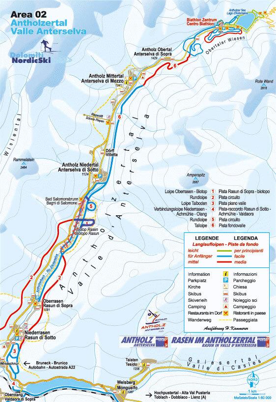 Anterselva/Antholz Piste / Trail Map