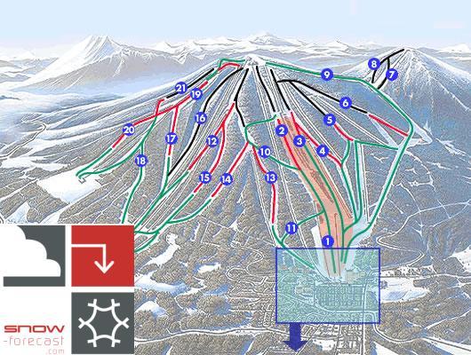 Appi Kogen Piste / Trail Map