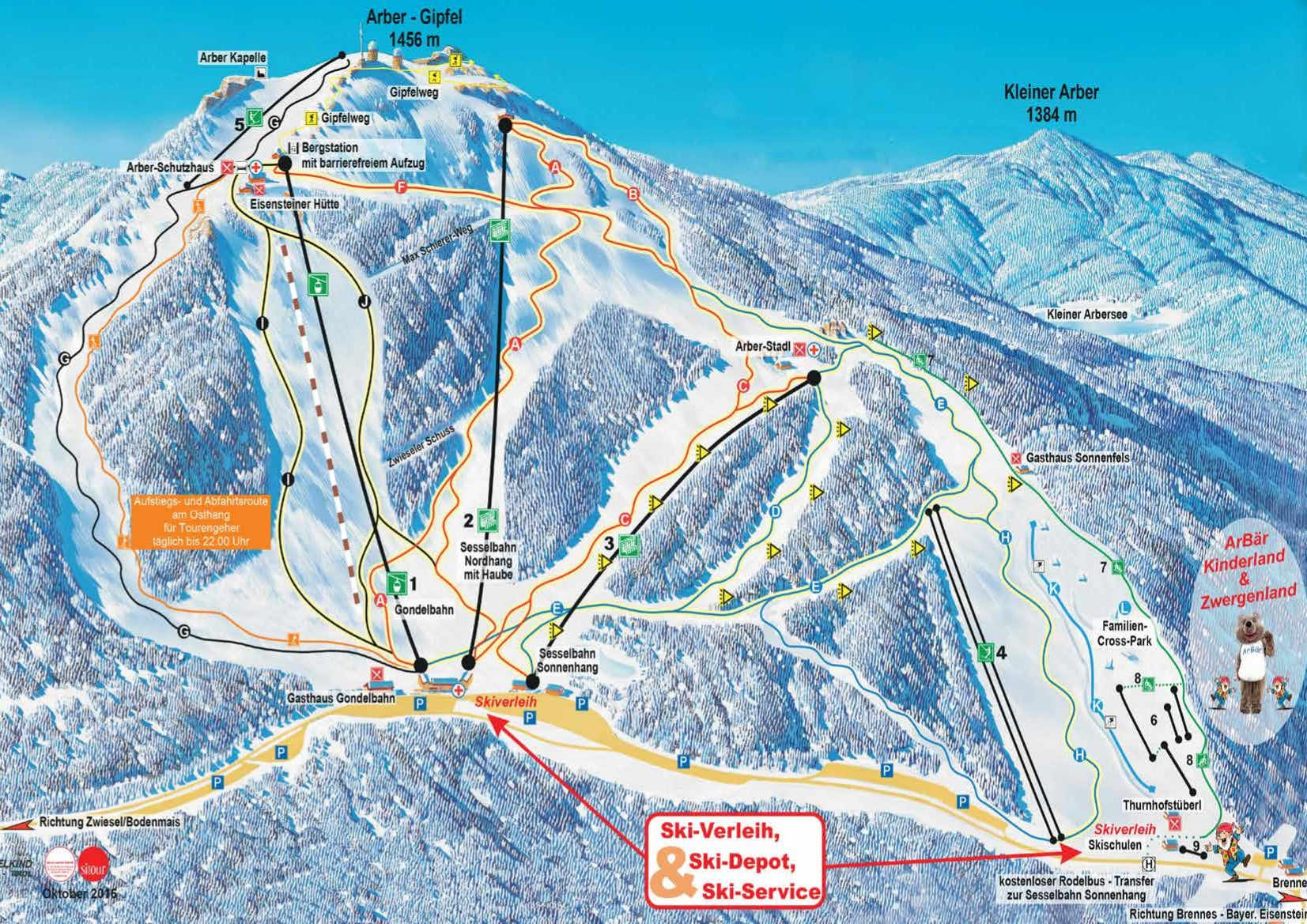 Arber Piste / Trail Map