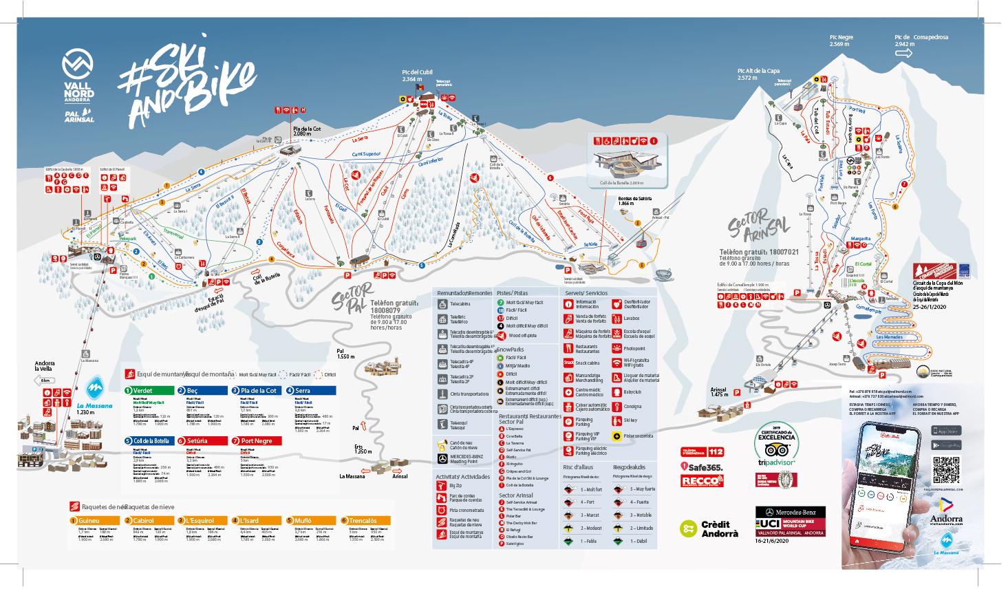 Vallnord-Arinsal Piste / Trail Map