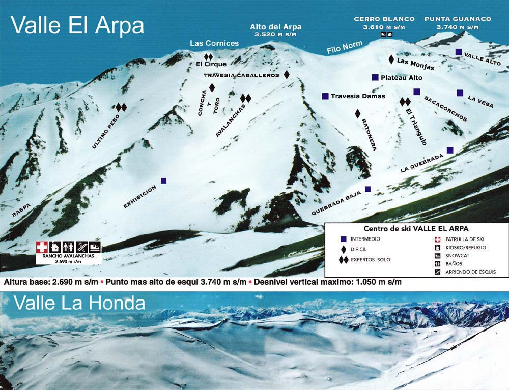 Ski Arpa Piste / Trail Map