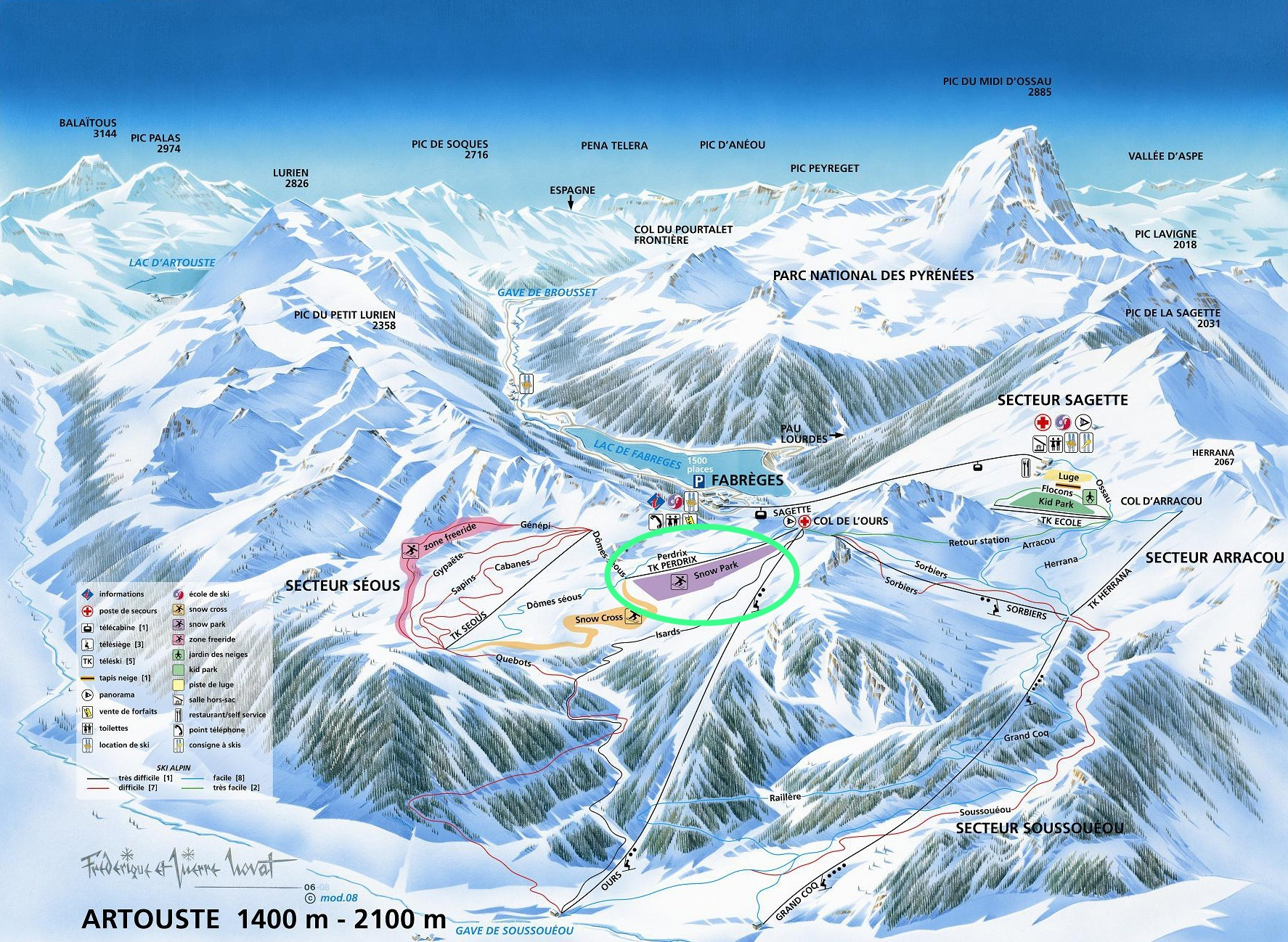 Artouste Piste / Trail Map