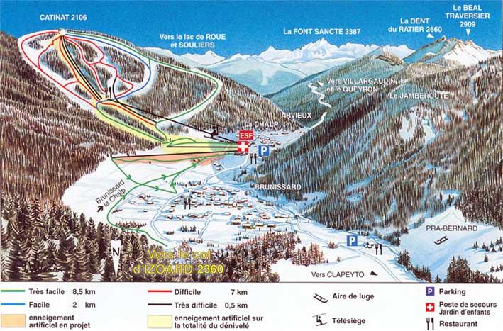 Arvieux en Queyras Piste / Trail Map
