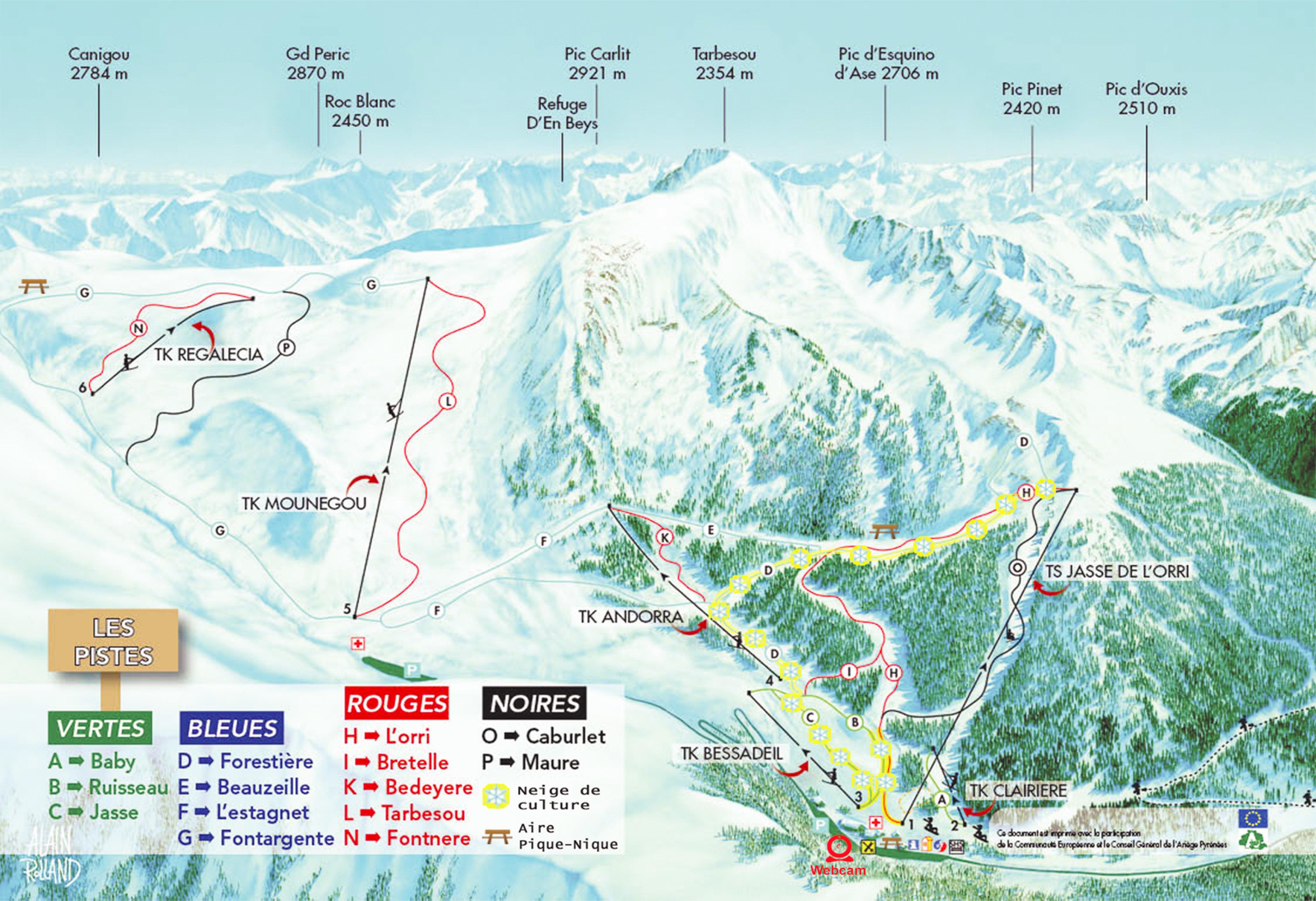 Ascou Pailhères Piste / Trail Map
